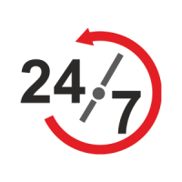 24/7 service all day every day
